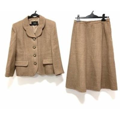 レリアン Leilian スカートスーツ サイズ13 L レディース 美品 - ブラウン×ダークブラウン【中古】20200604