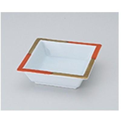 松花堂 和食器 / 赤金角鉢 寸法:11.4 x 11.4 x 3.5cm