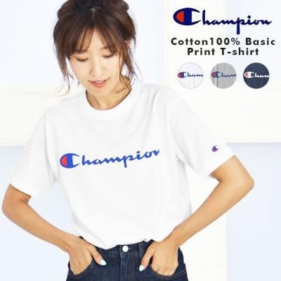 チャンピオン Tシャツ 半袖 コットン100% ベーシック プリント C3-P302 トップス ロゴT Champion