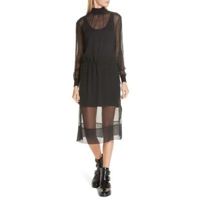 ラグアンドボーン レディース ワンピース トップス Dinah Silk Dress BLK