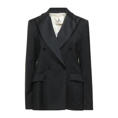 バレナ BARENA テーラードジャケット ブラック 40 バージンウール 98% / ポリウレタン 2% / アセテート / キュプラ テーラード