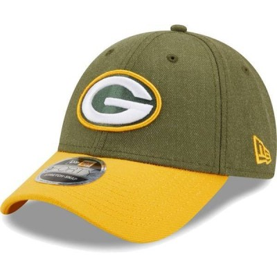 ニューエラ メンズ 帽子 アクセサリー New Era Men's Green Bay Packers Green League 9Forty Adjustable Hat