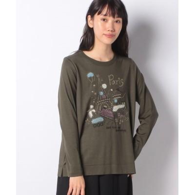 【アバン】 刺繍ニット レディース グリーン M AVANT