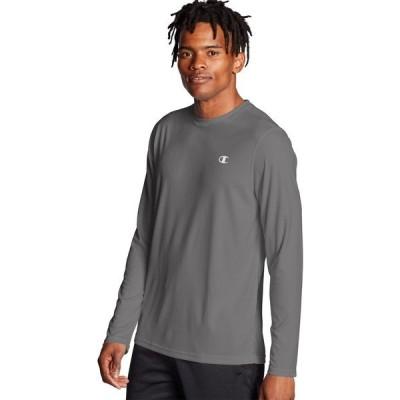 チャンピオン シャツ トップス メンズ Champion Men's Double Dry Long Sleeve Shirt StoneGray