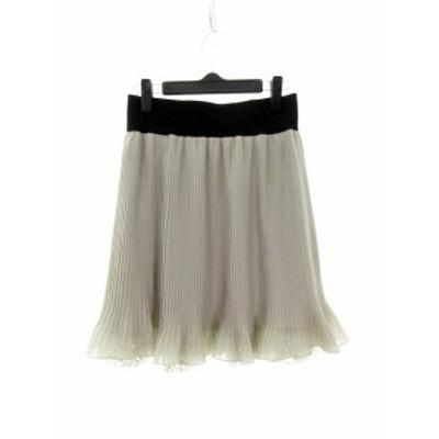 【中古】クリアインプレッション CLEAR IMPRESSION スカート フレア ミニ 切替 2 グレー /M2 レディース