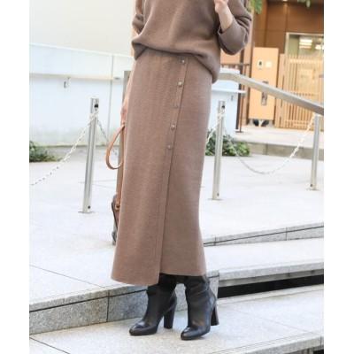 THE SHOP TK(Women)(ザ ショップ ティーケー(ウィメン)) ボタン付きタイトニットスカート【セットアップコーデ可】