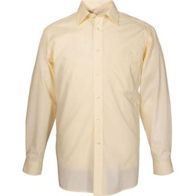 ダブルTWO Double Two メンズ シャツ トップス King Size Plain Non-Iron Cotton Rich Shirt Lemon