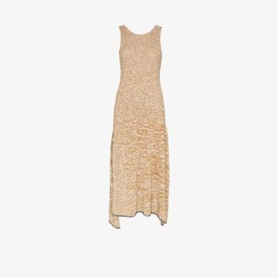 ジョゼフ Joseph レディース パーティードレス ノースリーブ ミドル丈 ワンピース・ドレス Darla sleeveless knit midi dress brown