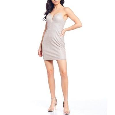 ジービー レディース ワンピース トップス Social V-Neck Spaghetti Strap V-Neck Slim Dress