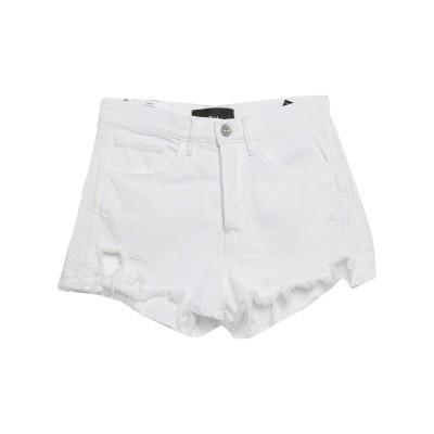 スリー・バイ・ワン 3x1 デニムショートパンツ ホワイト 28 コットン 100% デニムショートパンツ