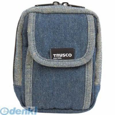 トラスコ中山 [TDCH101] TRUSCO デニム携帯電話用ケース 2ポケット ブルー