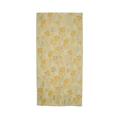 花々(hanahana) のれん 防炎&花粉キャッチ機能付き 85×170cm ミラーフラワー