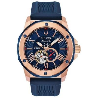 ブロバ 腕時計 アクセサリー レディース Men's Automatic Marine Star Blue Silicone Strap Watch 45mm Blue/Blue