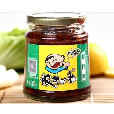 飯掃光 野竹筍 竹の子 ザーサイ類 四川の具入り辣油 四川料理 おつまみ 280g 冷凍商品と同梱不可