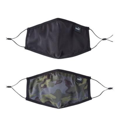 プーマ フェイスマスク 2枚セット ブラック カモ 大人用 長さ調節可能 小物 アクセサリー 054141-02