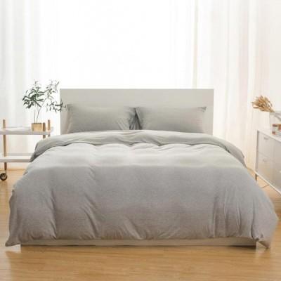 [ブルー,1.5 Size]3本のシンプルなスキンケアSoftインド綿繊維ニット生地寝具セットデュアル枕