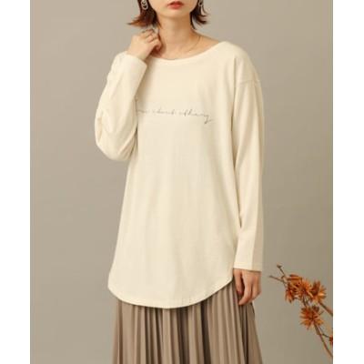 ラウンドテールプリントTシャツ