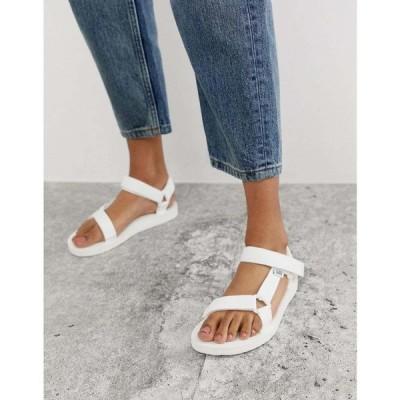 テバ Teva レディース サンダル・ミュール シューズ・靴 Original Universal sandals in white ホワイト