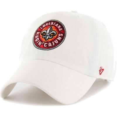 フォーティセブン 47 メンズ キャップ 帽子 Louisiana-Lafayette Ragin' Cajuns Clean Up Adjustable White Hat