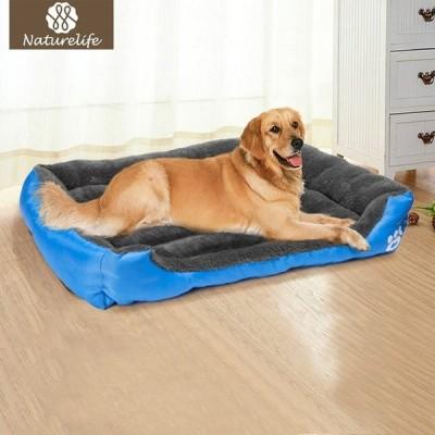 ペット大型犬ベッド暖かい犬小屋ソフト巣犬バスケット防水猫子犬プラスサイズ
