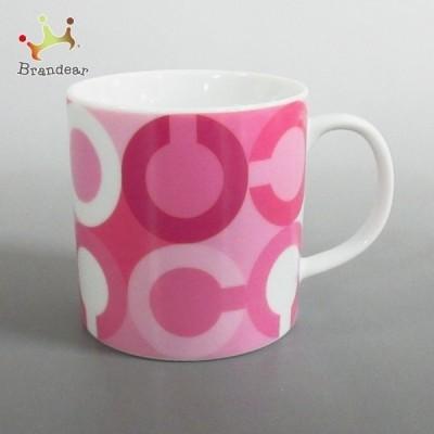 コーチ COACH マグカップ 新品同様 - ピンク×ライトピンク×白 オプアート 陶器 新着 20210221