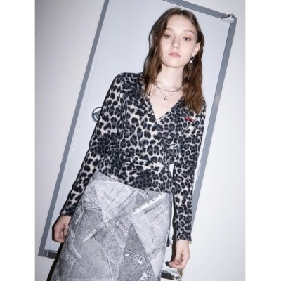 tシャツ Tシャツ 【B ABLE TWO 】Twice Leopard T-shirts / トゥワイス レオパードティーシャツ