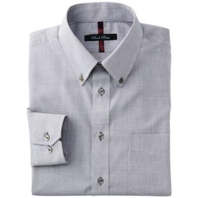 抗菌防臭機能付き・形態安定デザインYシャツ(ゆったりシルエット)/チェック/43(裄丈84)