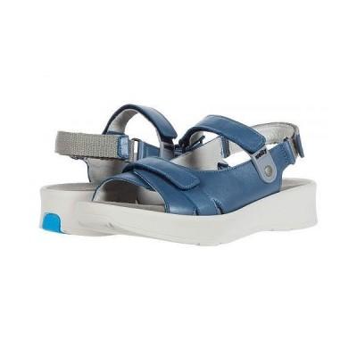 Wolky ウォーキー レディース 女性用 シューズ 靴 サンダル Globe - Steel Blue Sienna Pearl Leather
