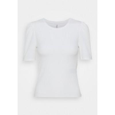 オンリー プティ レディース Tシャツ トップス ONLNELLA  - Print T-shirt - cloud dancer cloud dancer