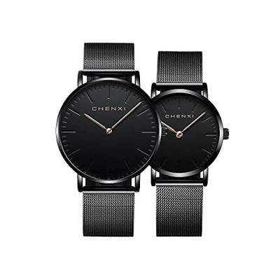 Couple Watch Minimalist Ultra Thin Men Women Quartz Watches for Lovers Rose
