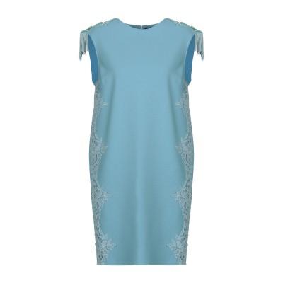 ELISABETTA FRANCHI ミニワンピース&ドレス ターコイズブルー 42 ポリエステル 93% / ポリウレタン 7% ミニワンピース&