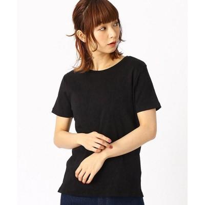 【コムサイズム】 ベーシック Tシャツ レディース ブラック M COMME CA ISM