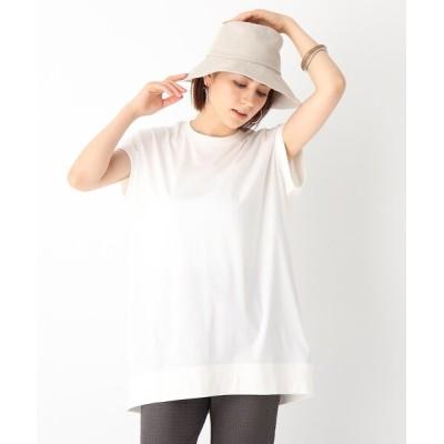OPAQUE.CLIP / マーセライズドコットン コクーンシルエットカットソー【WEB限定サイズ】 WOMEN トップス > Tシャツ/カットソー