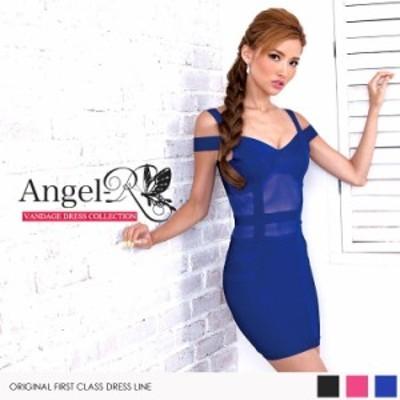 Angel R エンジェルアール ドレス キャバ ドレス キャバドレス エンジェル アール ドレス ウエスト透けバンテージドレス タイトドレス ス