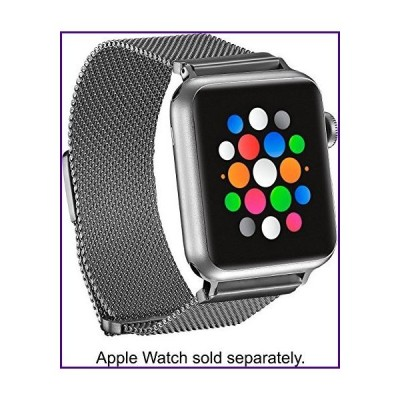 Platinum Magnetic Stainless Steel Mesh Band for Apple Watch (PT-AWB38SMB) Silver - 38MM - New【並行輸入品】