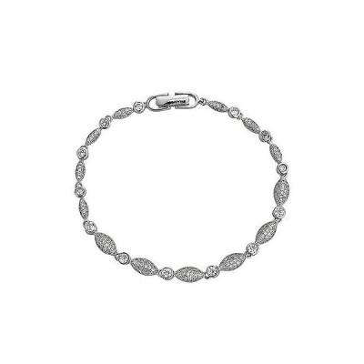 ジュエリー ファッション ブレスレット Decadence Sterling Silver Cubic Zirconia Link Bracelet