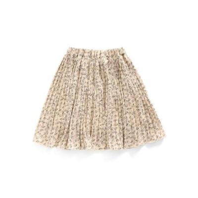【アプレレクール】花柄プリーツスカート