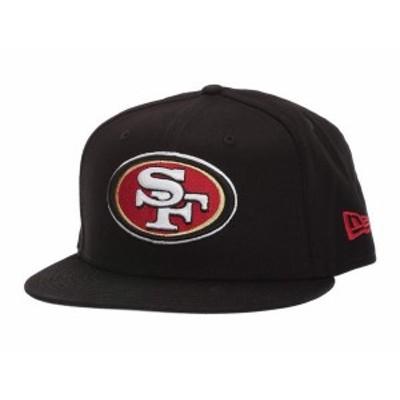 ニューエラ メンズ 帽子 アクセサリー 9FIFTY NFL Basic Snap San Francisco 49ers Black 1