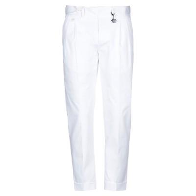 マニュエル リッツ MANUEL RITZ パンツ ホワイト 50 コットン 98% / ポリウレタン 2% パンツ