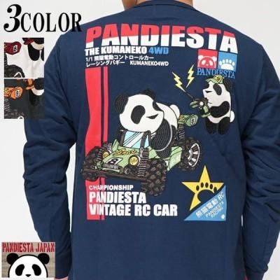 パンディエスタ PANDIESTA ロング Tシャツ パンダ ラジコン 車 和柄 530212
