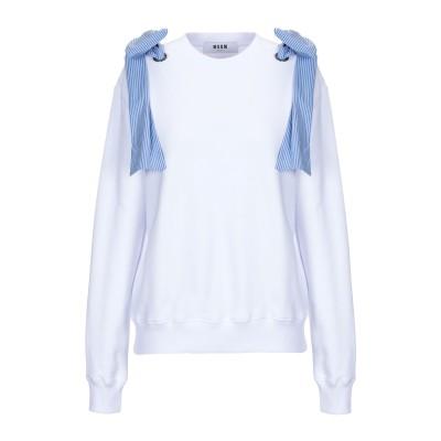 エムエスジーエム MSGM スウェットシャツ ホワイト XS コットン 100% スウェットシャツ