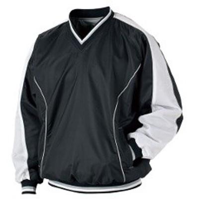 ゼット ZETT 野球用 ジャンパー(Vネック・長袖) BO550 [カラー:ブラック×ホワイト] [サイズ:XO] #BO550 スポーツ・アウトドア