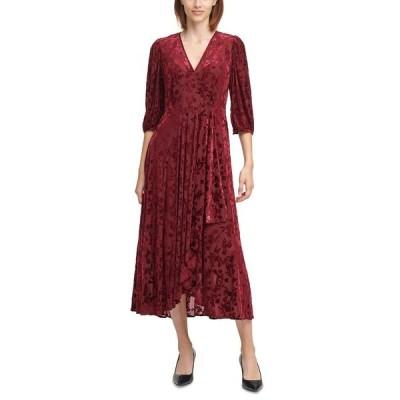 カルバンクライン ワンピース トップス レディース Velvet Floral Maxi Dress Rosewood