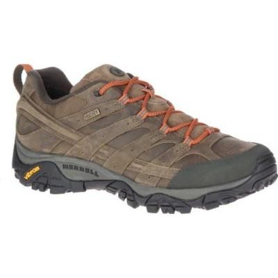 メレル メンズ ブーツ&レインブーツ シューズ Moab 2 Prime Waterproof Hiking Shoe Canteen Full Grain Leather
