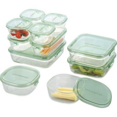 内祝い 内祝 お返し イワキ iwaki 保存容器 キッチン用品 パック & レンジ デラックス セット グリーン PST-PRN11G (2)