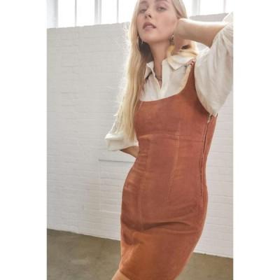 アーバンアウトフィッターズ Urban Outfitters レディース ワンピース ミニ丈 ワンピース・ドレス UO Corduroy Seamed Mini Dress Orange