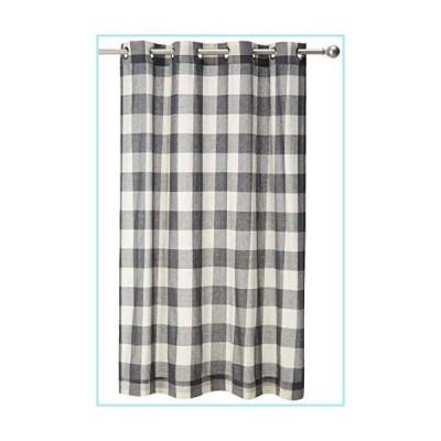 """新品LORRAINE HOME FASHIONS, Gray, Courtyard Grommet Window Curtain Panel, 53"""" x 63"""""""