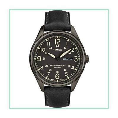 タイメックス ウォーターベリー トラディショナル デイト 42mm 腕時計 ブラック/ガンメタル【並行輸入品