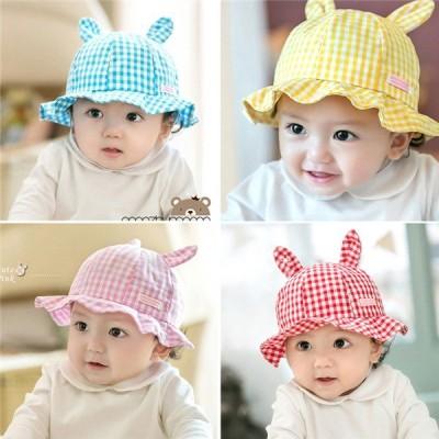 ベビー キッズ 洗えるコットンハット 帽子 ハット UVカット 紫外線対策 日よけ キャップ つば広 赤ちゃん 子供 男の子 女の子 ユニセックス