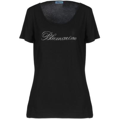 ブルマリン BLUMARINE T シャツ ブラック 44 レーヨン 95% / ポリウレタン 5% T シャツ